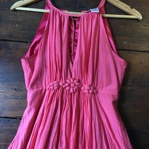 Esley pink silk & cotton dress